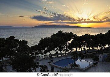 Splendid seacoast of Croatia (Makarska riviera, Brela)