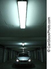 Splendid sport-wagon in a parking lot (brand new Volvo V50)