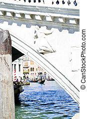 Venezia, Italia - Splendido ponte di Rialto - Venezia,...