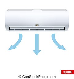 Split air conditioner house system