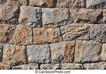 Split block sandstone