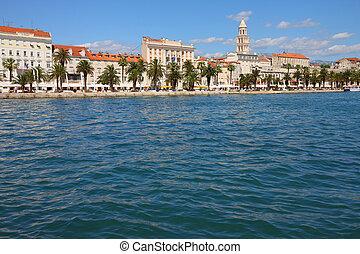 Croatia - Split in Dalmatia. Old town - famous UNESCO World Heritage Site.