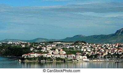Split, Croatia panorama - Split, Croatia coastline at...