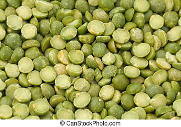 split green peas background in natural light
