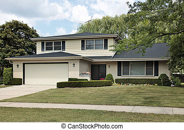Split level suburban home
