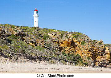 Split Point Lighthouse on a warm summer's day in Aireys...