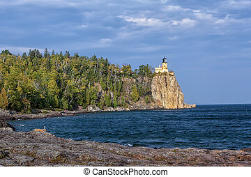 Split Rock Lighthouse along North Shore of Lake Superior in...
