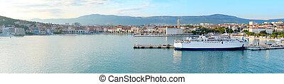 Split skyline - Wide panoramic view of Split, Dalmatia,...