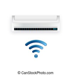 Split system air conditioner inverter. Cool and cold climate...