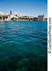 Split town in Croatia at the Adriatic coast