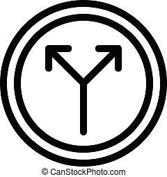 split vector thin line icon