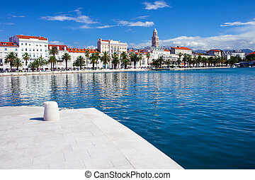 Split waterfront scenery in central Croatia