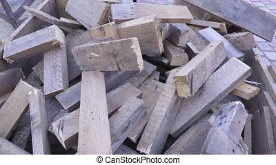 Splited boards for firewood