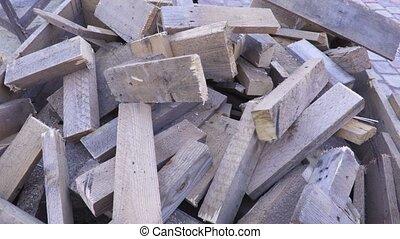 Splited boards for firewood