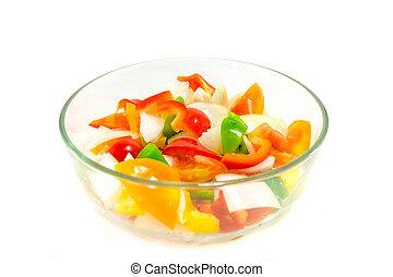splitte, løg, tomater