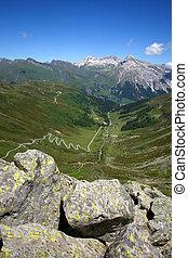Splugenpass in Switzerland