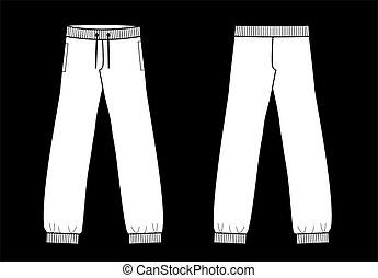 spodnie, kalesony, część garderoby, rys