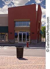 spogli edificio molti negozi, -, negozio angolo, ristorante
