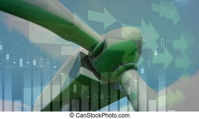 spoinowanie, zamiana, podwyższając, ożywienie, turbina, ...