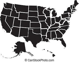 spojené státy, mapa