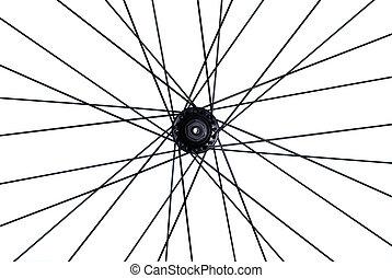 spoke of mountain bike, isolated on white