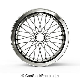 spoked rim isolated on a white background