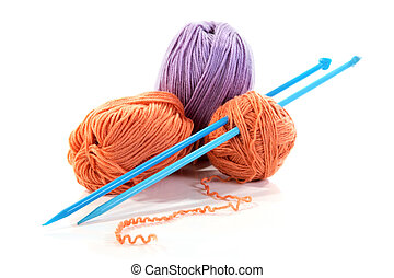 Spokes and threads for knitting isolated - Spokes and...