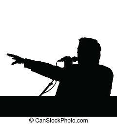 spokesman vector illustration