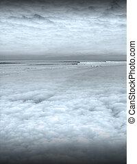 spokojna scena, ocean