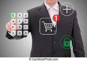 spokojny, na linie shopping, encrypted, wpłata
