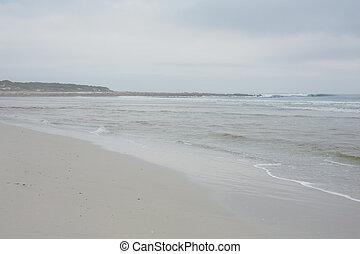spokojny, niebo, przeciw, ocean