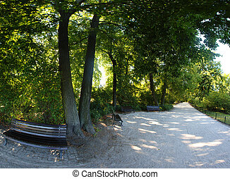 spokojny, park, w, wroclaw, polska