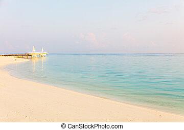 spokojny, seascape., rano
