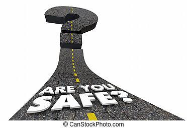 spokojny, sejf, pytanie, ilustracja, marka, ochroniarskie bezpieczeństwo, ty, bezpieczny, bezpieczeństwo, droga, 3d