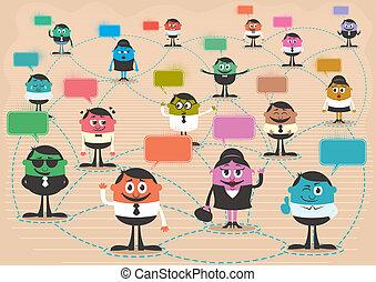 společenský, síť