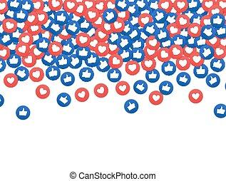 společenský, síť, marketing, jako, a, nitro, icon., obklad,...