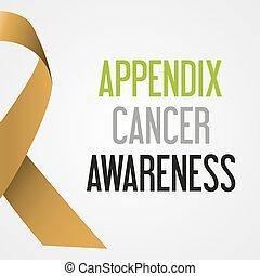 společnost, dodatek, rakovina, den, povědomí, plakát, eps10