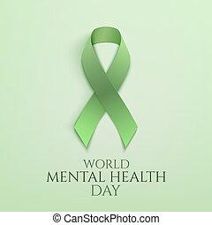 společnost, duševní zdravotní stav, den, grafické pozadí.