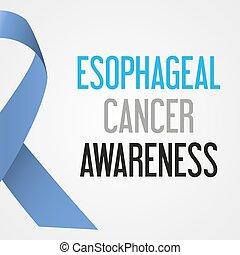 společnost, esophageal, rakovina, den, povědomí, plakát, eps10