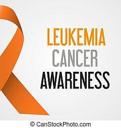 společnost, leukemie, rakovina, den, povědomí, plakát, eps10