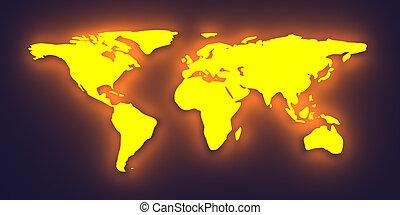 společnost, nadšený, mapa