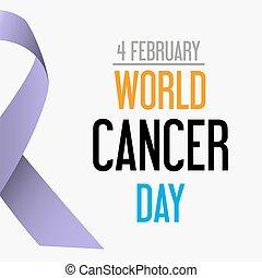 společnost, rakovina, den, oslava, o, rakovina, povědomí, eps10