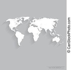 společnost, vektor, map., illustration.