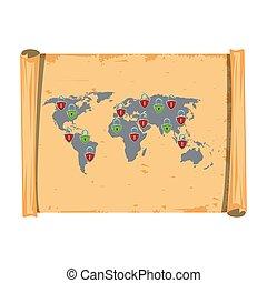 společnost, vinobraní, mapa