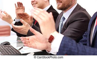 spolutanečnice, po, povolání, zpravodaj, up, tleskaní, seminar., mládě, naslouchání poslech, hlášení, uzavřít