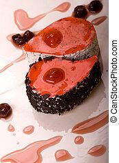 sponge-cake and cherries