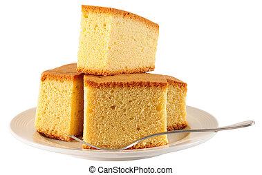 Sponge cake - Slices of baked cake