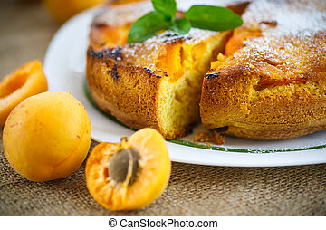Sponge cake with apricot