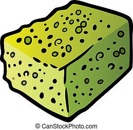 sponge clip art cartoon illustration