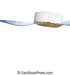 Sponge Floating on Water